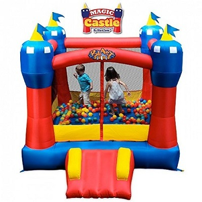 Blast Zone Magic Castle inflatable bouncer.