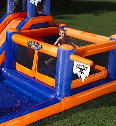 Blast Zone Pirate Bay inflatable bouncer.