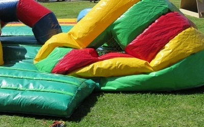 Deflated bounce house.
