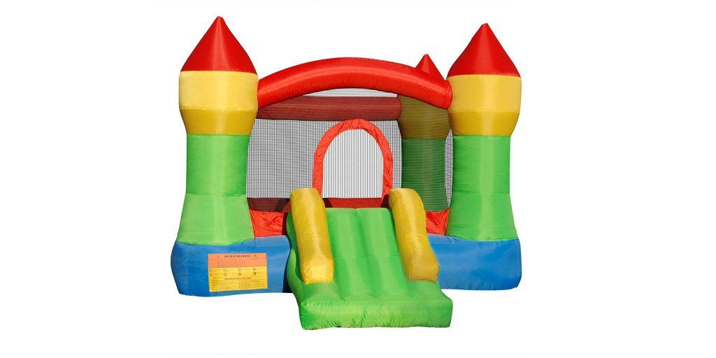 the cloud 9 castle inflatable bounce house is perfect for young kids