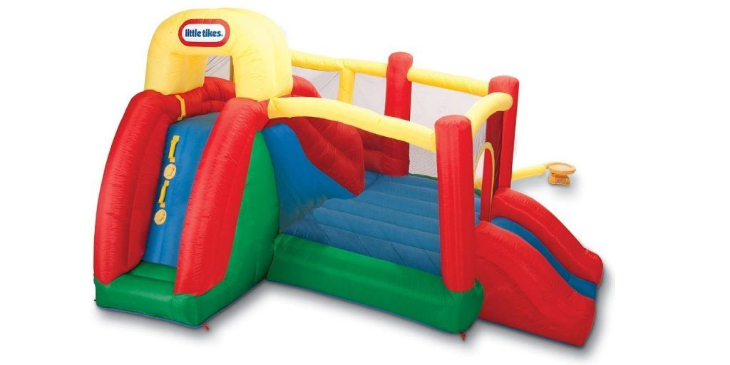 A great value double slide bounce house perfect for kids parties