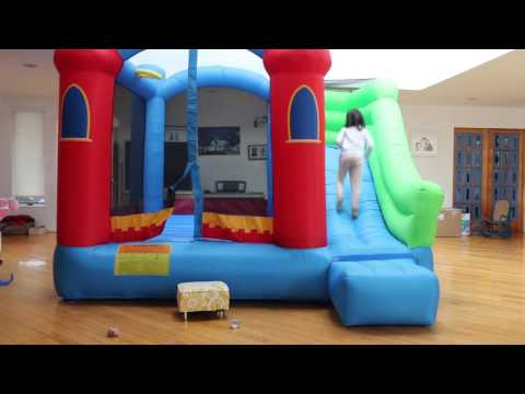 this inflatable bouncer fits indoors
