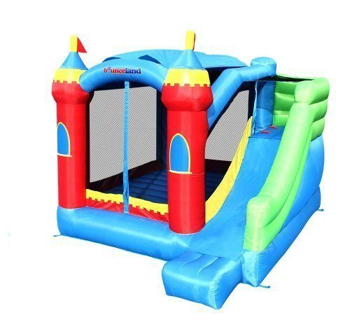 Long slide in this inflatable bounce house