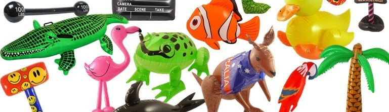 Assortment of Inflatable Blow Up Toys
